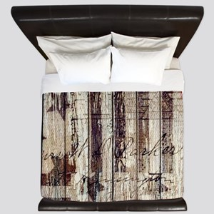 grunge USA flag King Duvet