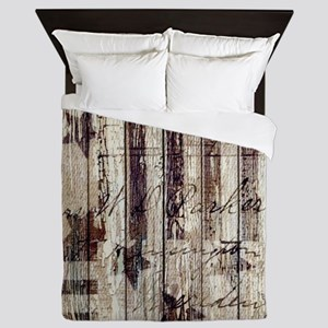 grunge USA flag Queen Duvet
