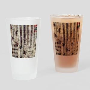 grunge USA flag Drinking Glass