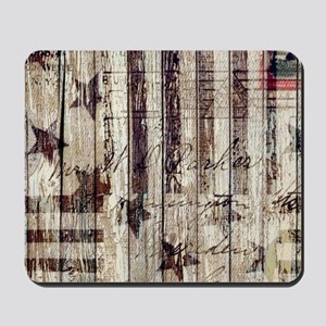 grunge USA flag Mousepad