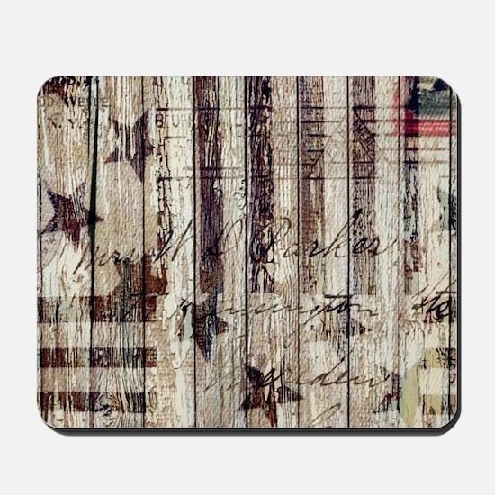grunge USA flag Mousepad