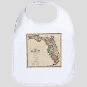 Vintage Map of Florida (1870) Bib