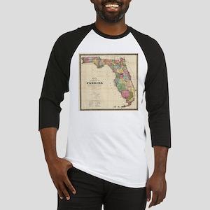 Vintage Map of Florida (1870) Baseball Jersey