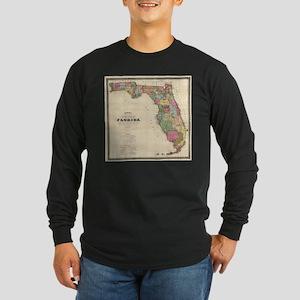 Vintage Map of Florida (1870) Long Sleeve T-Shirt