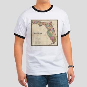 Vintage Map of Florida (1870) T-Shirt