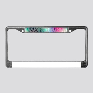 Leaf Rainbow License Plate Frame