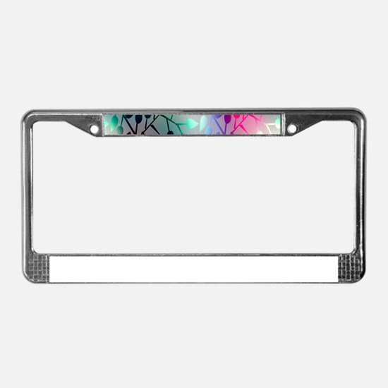 Leaf Rainbow License Plate Frame