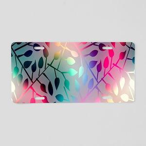 Leaf Rainbow Aluminum License Plate