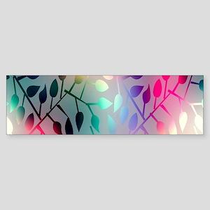 Leaf Rainbow Bumper Sticker
