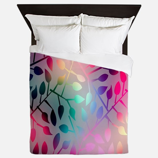 Leaf Rainbow Queen Duvet