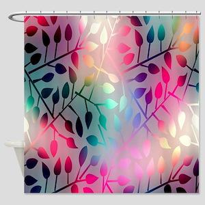 Leaf Rainbow Shower Curtain