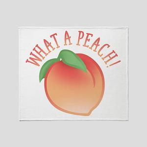What A Peach Throw Blanket