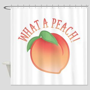 What A Peach Shower Curtain