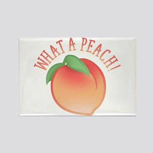 What A Peach Rectangle Magnet
