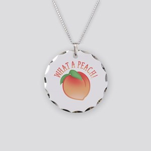 What A Peach Necklace Circle Charm