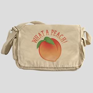 Cute What A Peach Messenger Bag