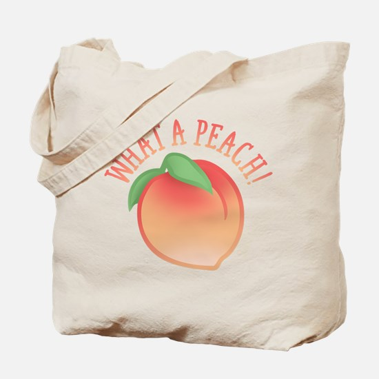 Cute What A Peach Tote Bag