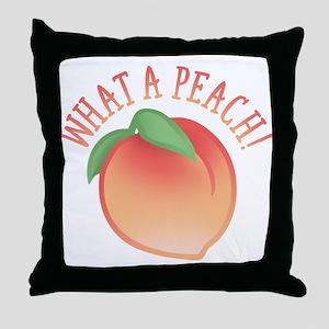 Cute What A Peach Throw Pillow