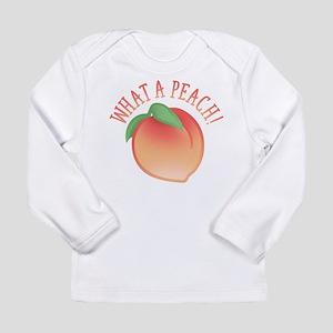 Cute What A Peach Long Sleeve T-Shirt