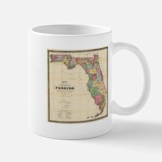 Vintage Map of Florida (1870) Mugs