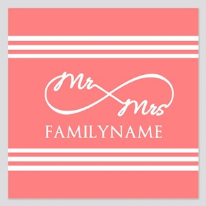 Coral Infinity Mr and Mrs P 5.25 x 5.25 Flat Cards