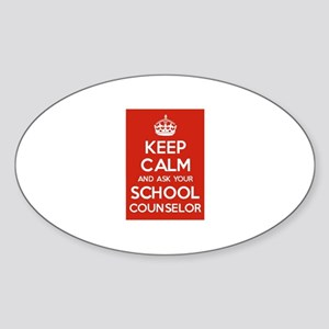 Keep Calm and Ask Your School Counselor Sticker