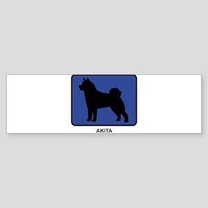 Akita (blue) Bumper Sticker