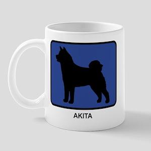 Akita (blue) Mug