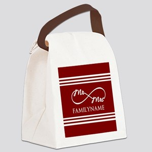 Red Infinity Mr and Mrs Personali Canvas Lunch Bag