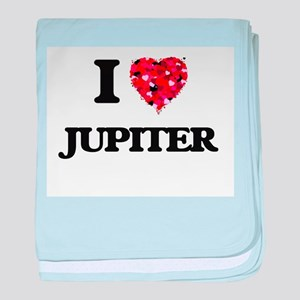 I Love Jupiter baby blanket