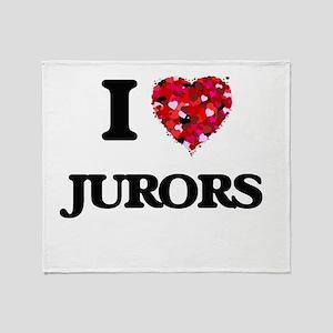 I Love Jurors Throw Blanket