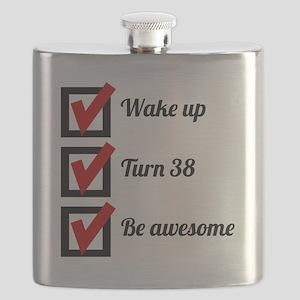 Awesome 38th Birthday Checklist Flask