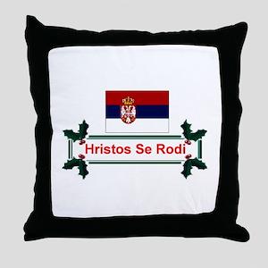 Serbia Hristos Se Rodi Throw Pillow