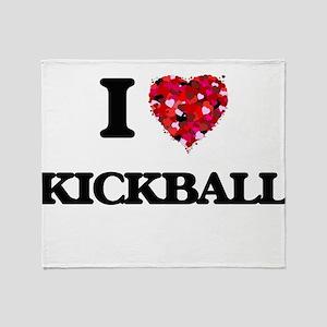 I Love Kickball Throw Blanket