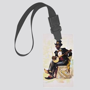African American banjo player Vi Large Luggage Tag