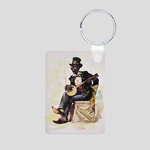 African American banjo pla Aluminum Photo Keychain