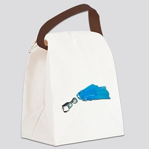 SwimGogglesFlippers103110 Canvas Lunch Bag