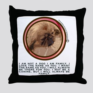 PEKEGRAPHICS KNOWLEDGE  FROM THE DOG Throw Pillow
