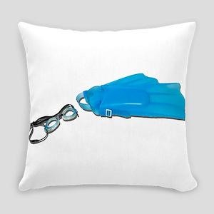 SwimGogglesFlippers103110 Everyday Pillow