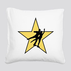 Figure Skating Star Square Canvas Pillow