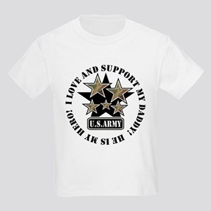 Daddy Kids Army Love Support Kids T-Shirt