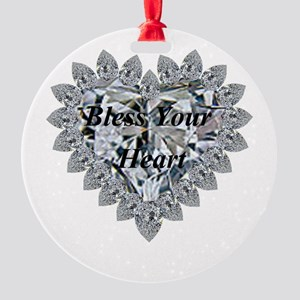 Bless Your Heart Round Ornament