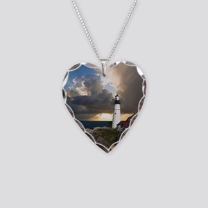 Lighthouse Lookout Necklace Heart Charm