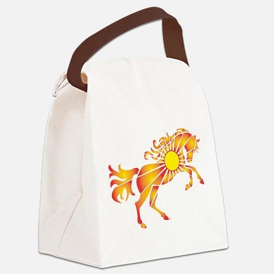 Sun Horse Art Canvas Lunch Bag