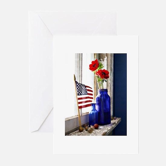 Patriotic Flowers Greeting Cards (Pk of 20)