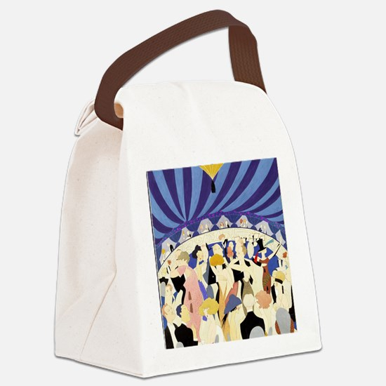Dancing couples vintage poster 19 Canvas Lunch Bag