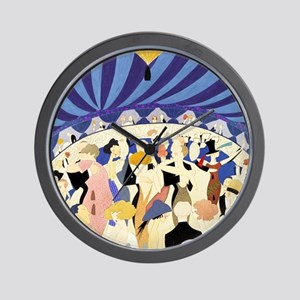 Dancing couples vintage poster 1921 Wall Clock