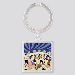 Dancing couples vintage poster 192 Square Keychain