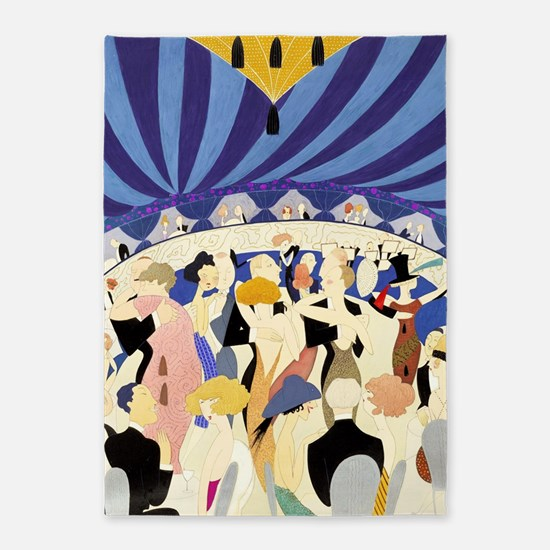 Dancing couples vintage poster 1921 5'x7'Area Rug