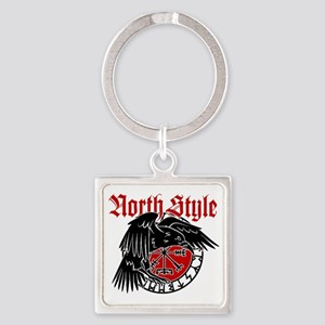 North Style Square Keychain